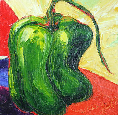 Green Pepper Print by Paris Wyatt Llanso