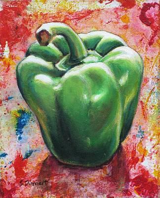 Green Pepper Art Print by Sheila Diemert