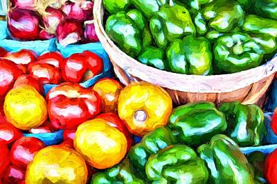 Photograph - Green Peppers by Alice Gipson