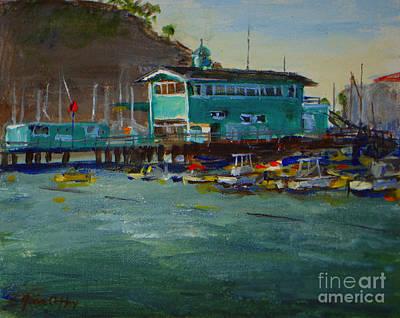 Green Pier Early Evening Original by Joan Coffey