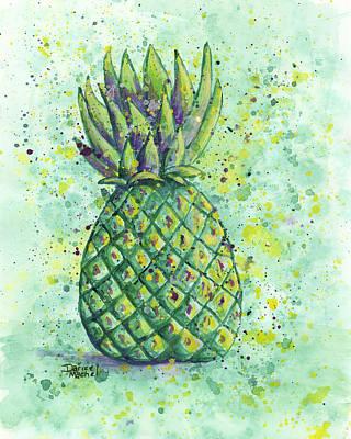 Painting - Green Pineapple by Darice Machel McGuire
