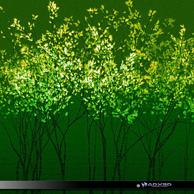 Digital Art - Green Print by A Dx