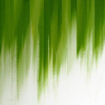 Digital Art - Green Rain by Andee Design