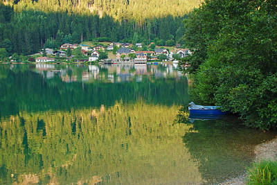 Photograph - Green Reflections by Marco Busoni