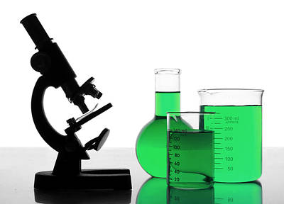 Chemical Photograph - Green Research by Jim Hughes