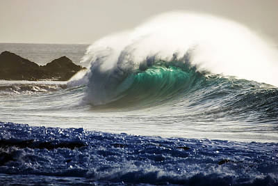 Sea Swell Photograph - Green Torch by Sean Davey