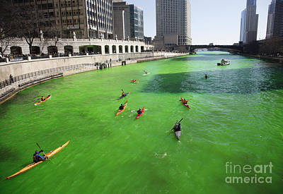 Photograph - Green River Chicago by Martin Konopacki