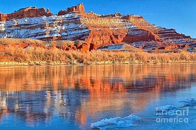 Green River Pastels Print by Adam Jewell