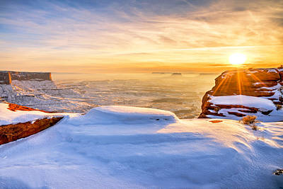 Buttes Photograph - Green River Snow by Chad Dutson
