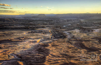 Photograph - Green River Sunset by David Waldrop