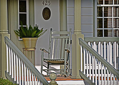 Photograph - Green Rocker by Linda Brown