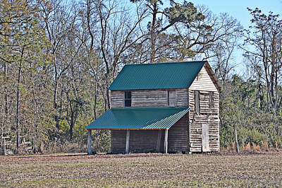 Photograph - Green-roofed Barn by Linda Brown