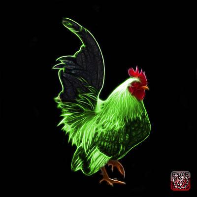 Mixed Media - Green Rooster Pop Art - 4602 - Bb - James Ahn by James Ahn