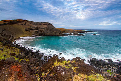 Photograph - Green Sand Beach Hawaii All Profits Go To Hospice Of The Calumet Area by Joanne Markiewicz