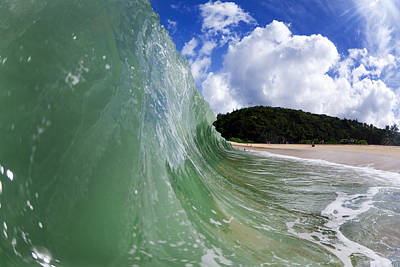 Ocean Energy Photograph - Green Scream by Sean Davey