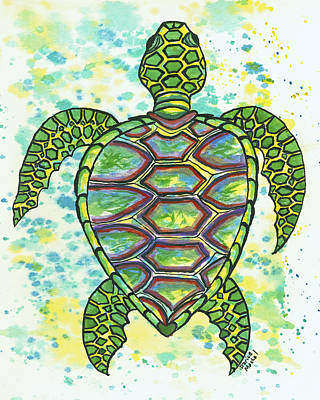 Painting - Green Sea Turtle by Darice Machel McGuire
