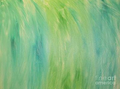 Art Print featuring the painting Green Shades by Barbara Yearty