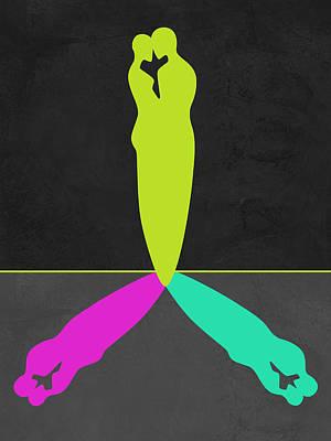 Love Making Mixed Media - Green Shadow by Naxart Studio