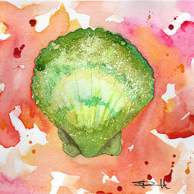 Painting - Green Shell by Sean Parnell
