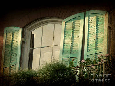 Photograph - Green Shutters Aglow by Valerie Reeves
