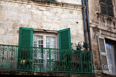 Photograph - Green Shutters In Avignon by John Rizzuto