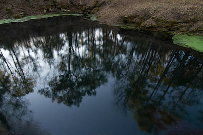 Print featuring the photograph Green Sink Reflection by Paul Rebmann