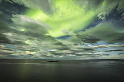 Arctic Photograph - Green Sky by Frank Olsen