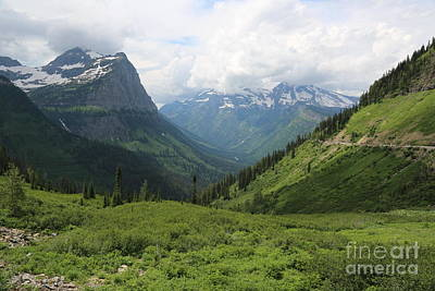 Photograph - Green Slopes Of Glacier by Carol Groenen
