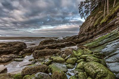Green Stone Shore Print by Jon Glaser