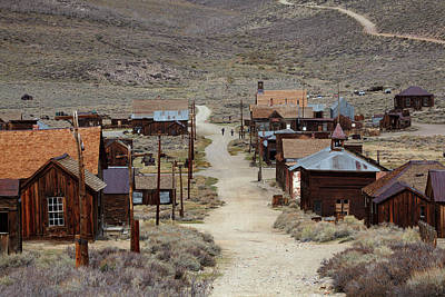 Ghost Towns Photograph - Green Street, Bodie Ghost Town by David Wall