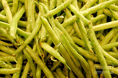 Photograph - Green String Beans by Staci Bigelow