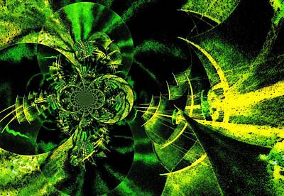 Surrealism Royalty-Free and Rights-Managed Images - Green Surreal by Romuald  Henry Wasielewski
