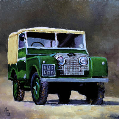 Green Suv Art Print by P.s