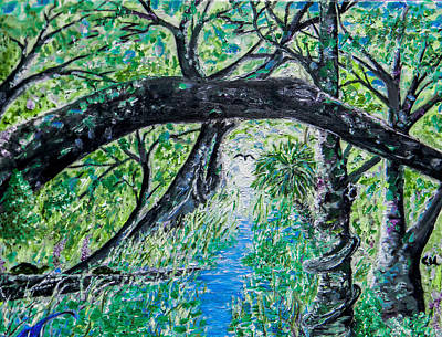 Painting - Green Swamp by Christy Usilton