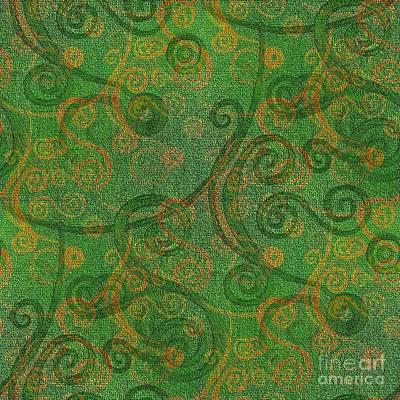 Painting - Green Tapestry  by Barbara Moignard
