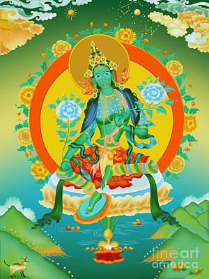 Tibetan Buddhism Painting - Green Tara by Andriy Urbanovich