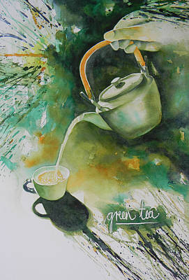 Loose Style Painting - Green Tea by Adel Nemeth