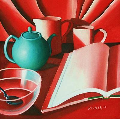 Painting - Green Tea Pot by Rivkah Singh