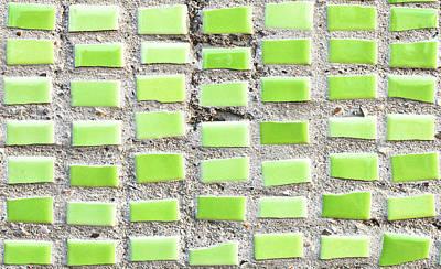 Ceramic Tile Photograph - Green Tiles by Tom Gowanlock