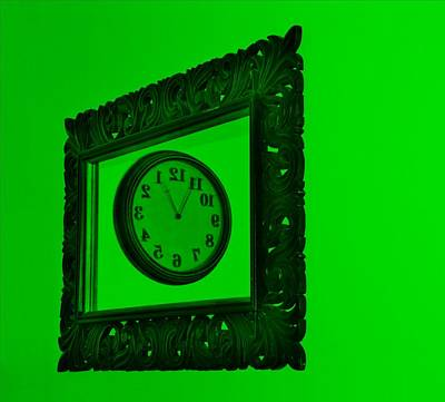 Photograph - Green Time Frame by Rob Hans