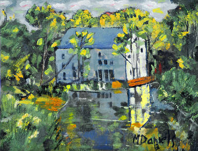 Green Township Mill House Art Print by Michael Daniels