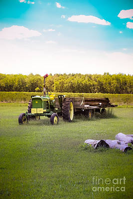 Photograph - Green Tractor by Colleen Kammerer