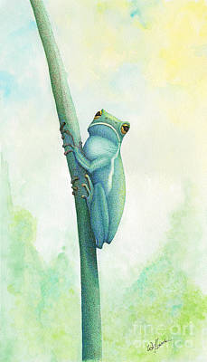 Mixed Media - Green Tree Frog by Wayne Hardee