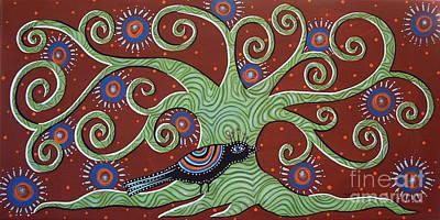 Green Tree Art Print by Karla Gerard