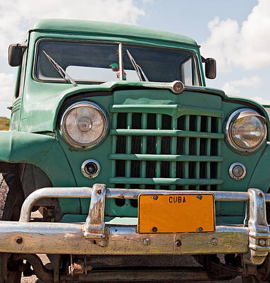 Photograph - Green Truck by Marek Poplawski