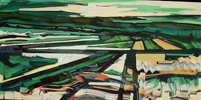 Green Valley Views Art Print by Catherine Jones Davies
