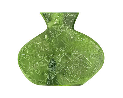 Lime Painting - Green Vase by Amy Cummings