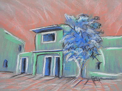 Green Village Art Print by Marcia Meade
