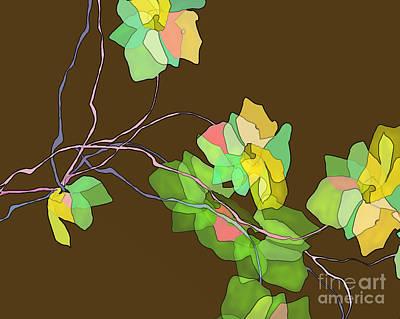 Digital Art - Green Vines by Ursula Freer