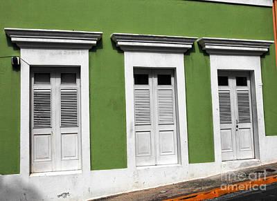 Photograph - Green Walls In San Juan by John Rizzuto